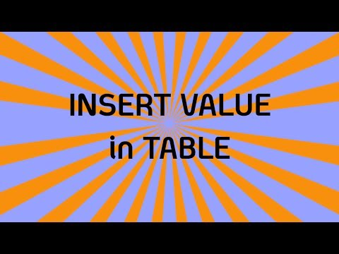 MySQL: How to insert row in table