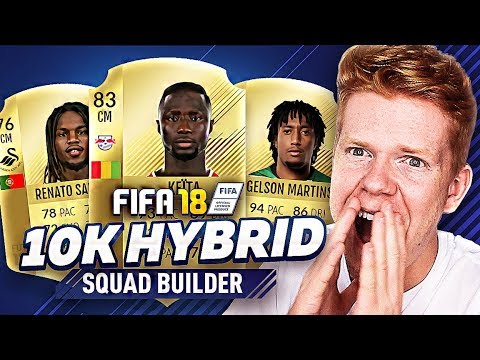 UNREAL 10,000 COIN HYBRID SQUAD BUILDER!! - FIFA 18 ULTIMATE TEAM