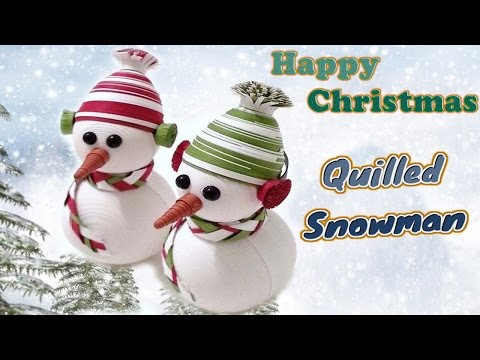 ☑️paper quilling 🌲 🎅 🌲 Christmas special 3D Snowman  design