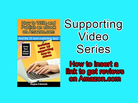 Kindle Ebook - How to insert a link to get reviews
