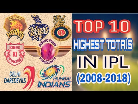 Top 10 highest Totals In IPL From 2008 To 2018