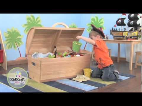 KidKraft Rounded Top Storage Chest - Natural 14541