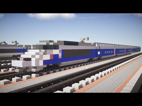 Minecraft French SNCF TGV Reseau Duplex Tutorial