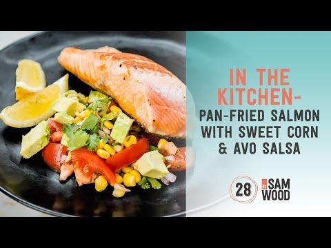 Pan-fried Salmon with Sweet Corn & Avo Salsa