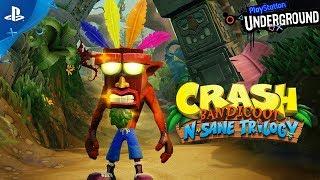 Crash Bandicoot N. Sane Trilogy Gameplay Demo   PS Underground