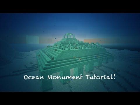 Minecraft Tutorial: OCEAN MONUMENTS!