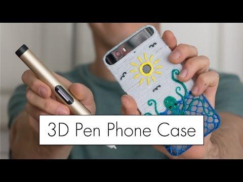 3D Pen Phone Case with the Dewang X4 Pen // 3D Printing Pen Review