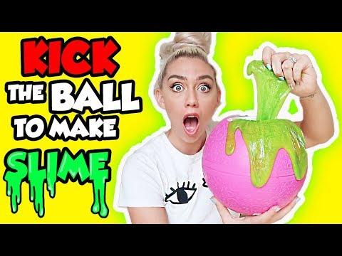 KICK THE BALL TO MAKE SLIME?! Most FUN Way To Make SLIME!