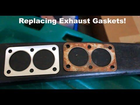 How to fix your exhaust leaks (Gasket Replacement) 1979 Volkswagen Rabbit