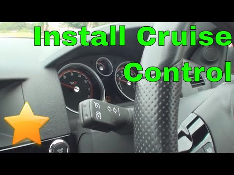How to: Install/Activate Cruise Control