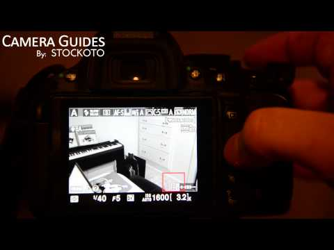 How to turn on Live View mode on a Nikon D5100 , D5200, D5300