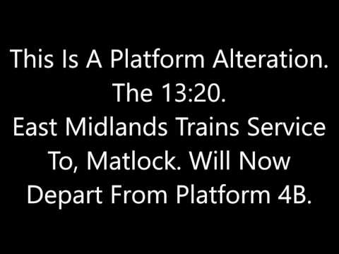 Nottingham Announcements Part 3 (Continued from Fabe's Trains)