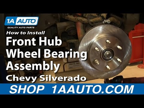 How To Install Front Hub Wheel Bearing Assembly 2000-06 Chevy Silverado Suburban GMC Sierra Yukon