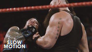 Unseen slow-motion footage of Braun Strowman