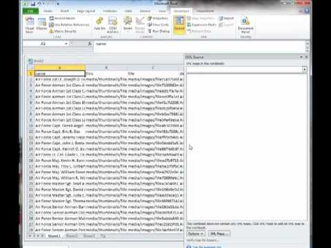 Converting data from Excel to XML Template
