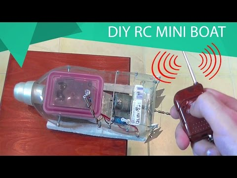 How To Make a Radio Control Mini Boat // HomeCraft