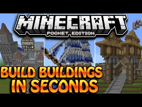 HOW TO BUILD EPIC BUILDINGS QUICKLY! - Minecraft - Pocket Edition [1.1]
