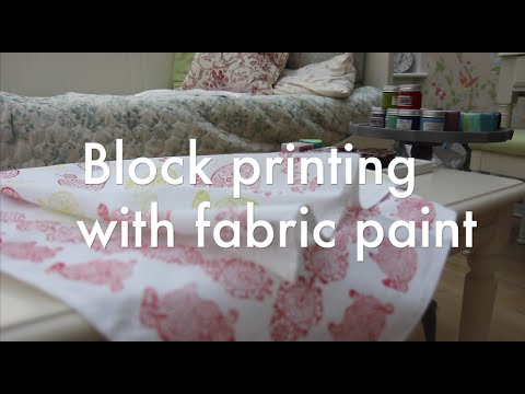 Block Printing with Fabric Paint