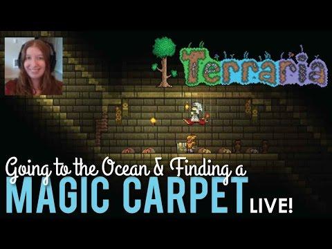 Where to Find a Magic Carpet in Terraria - LIVE!