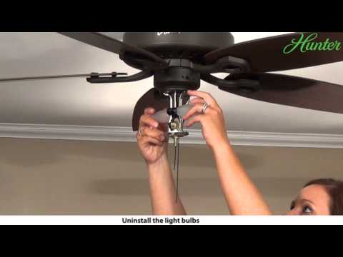 How to Remove a Light Kit from Your Hunter Ceiling Fan - 5xxxx Series Model Fans