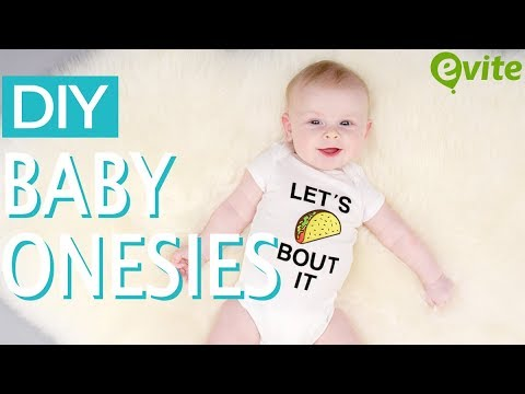 DIY Baby Onesies For Your Next Baby Shower
