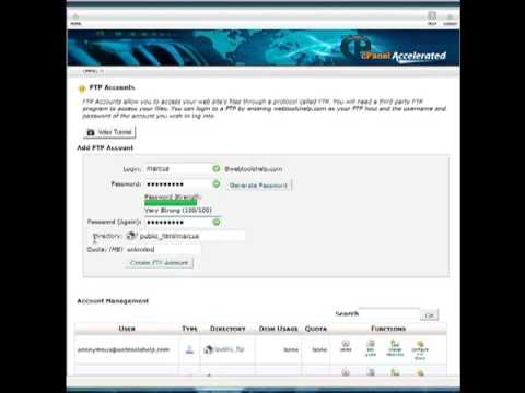 How to Create FTP Accounts in HostGator CPanel