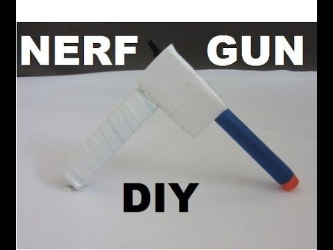 How to make a mini Nerf Gun at home (air gun) (very powerful) without syringe.