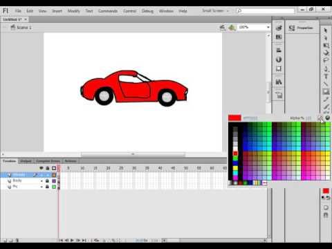 Flash From Scratch Tutorial 36 Draw A Car