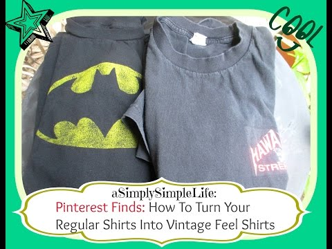 How To Turn Regular Shirt Into Vintage Feel Shirts - aSimplySimpleLife