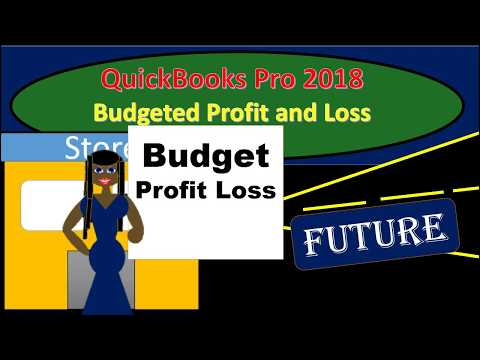 QuickBooks Pro 2018 Budgeted Profit and Loss
