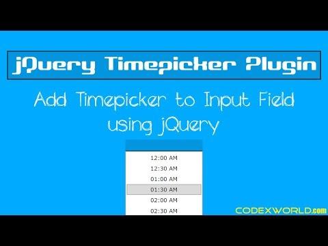 Add Timepicker to Input Field using jQuery