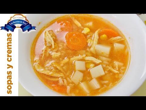 Sopa de pollo con arroz 💜💜💜 Las Recetas de Rosy