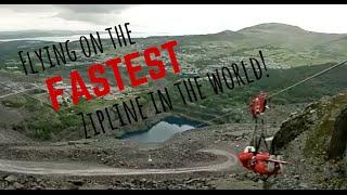 FASTEST Zipline in the World!   Wales