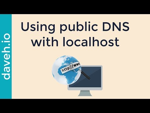 Use a web address in DNS for a local web server