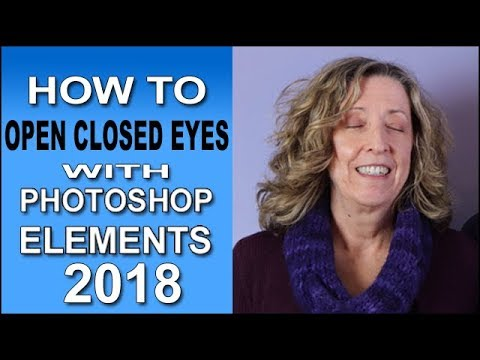Open Closed Eyes with Photoshop Elements 2018