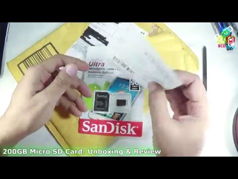 [Hindi-Audio]-Sandisk 200 GB Micro SD Card UHS-1 Class 10: Unboxing & Review