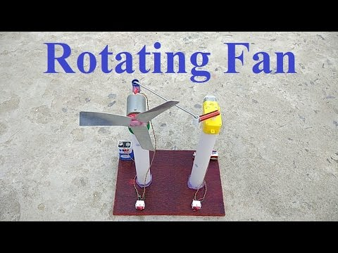 How to make Revolving Table Fan at home || auto rotation ||
