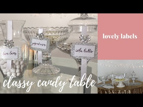 DIY CLASSY CANDY TABLE: Lovely Labels Tutorial