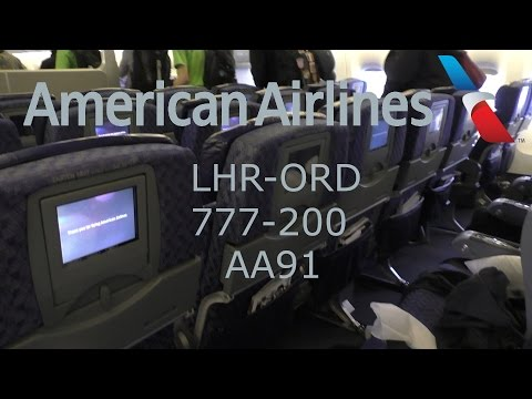 TRIP REPORT I American Airlines Economy Class I 777-200 I LHR-ORD