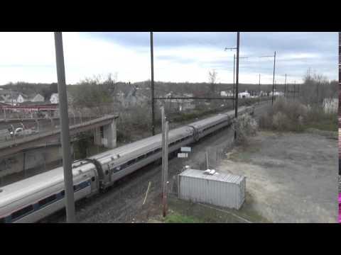 Amtrak Train Through Aberdeen Maryland