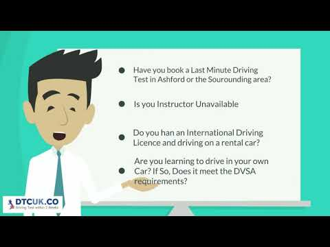 Driving Test Car Hire Ashford | DTC UK | Last Minute Driving Instructor