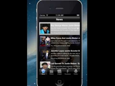 Live RSS Feed For Images/Photos/Videos/Twitter/Facebook iPhone Apps Source Code