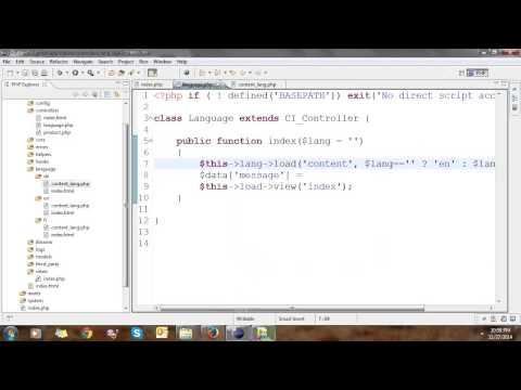 Multiple Language in Codeigniter