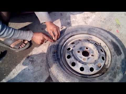 How To Fix Tubeless Tyre of a Car