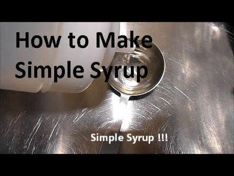 Simple syrup the  easy way - Bar syrup for your drinks