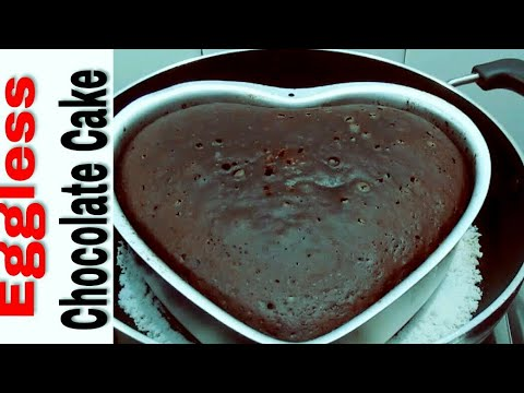 Chocolate Cake In Pan | Eggless Cake Recipes | Homemade Chocolate Cake Without Oven