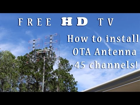 Free HD TV - OTA Antenna | How to install a long range antenna 45 channels!