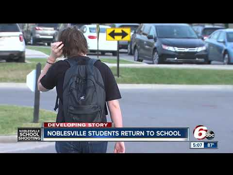 Most students return to Noblesville West following last week's shooting