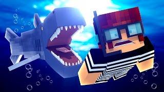 Minecraft : ATAQUE DO TUBARÃO GIGANTE !! - ( Polícia e Ladrão)