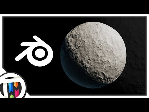 Blender Tutorial - How to make the Moon with Procedural Textures
